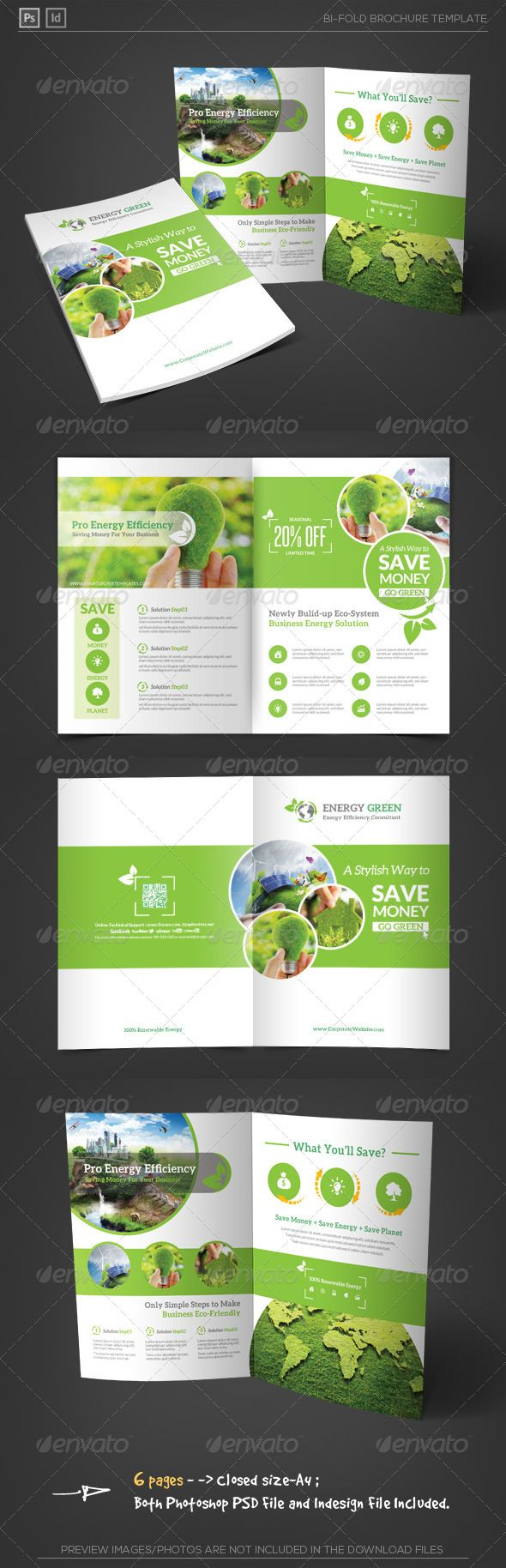 Energy Saving Corporate Bifold Brochure
