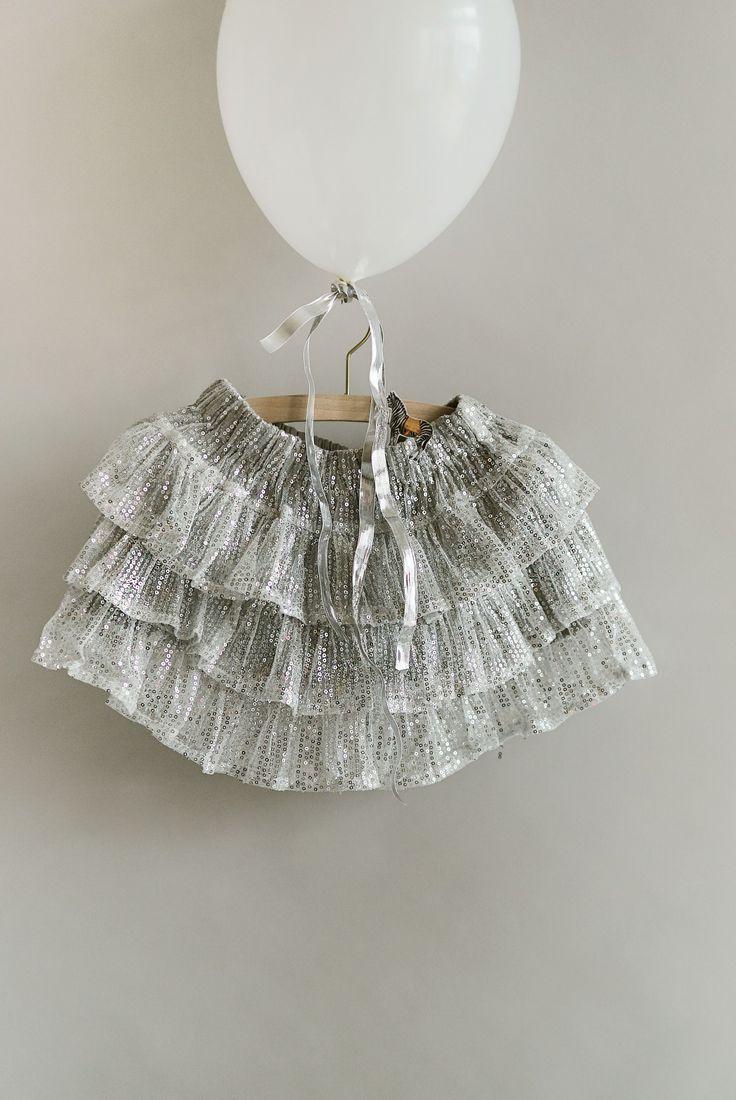 Kidswear glitter skirt