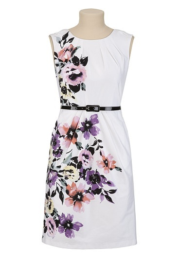 Belted Floral Sheath Dress - gorgeous!