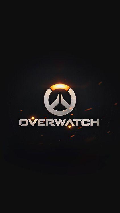 overwatch logo simple game art illustration dark iphone6 plus...