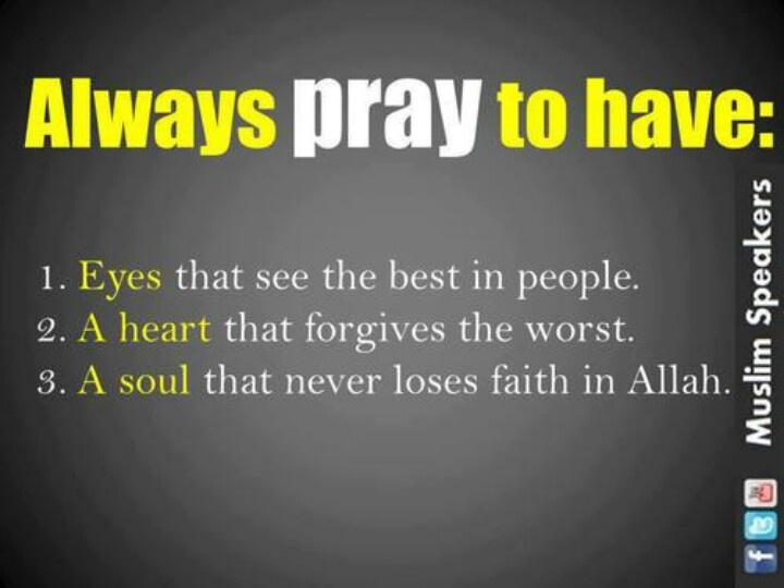 prayer that didnt makes ppl  having those three things only means worthless.