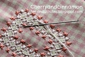 My dear mother in law- Mabel did beautiful  Chicken scratch work on baby blankets and aprons!