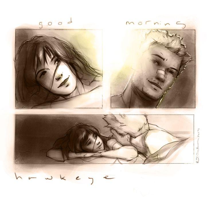 Clint Barton & Kate Bishop Hawkeye squared