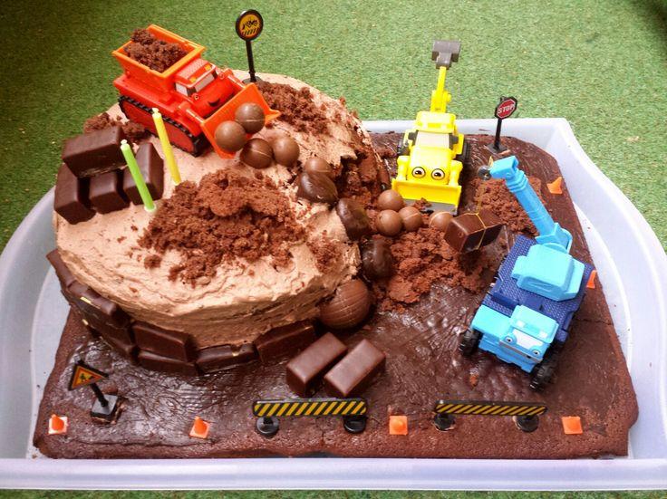 Baustellen-Torte, Bagger, Bob der Baumeister / Bob the Builder (Heppo, Baggi, Buddel)
