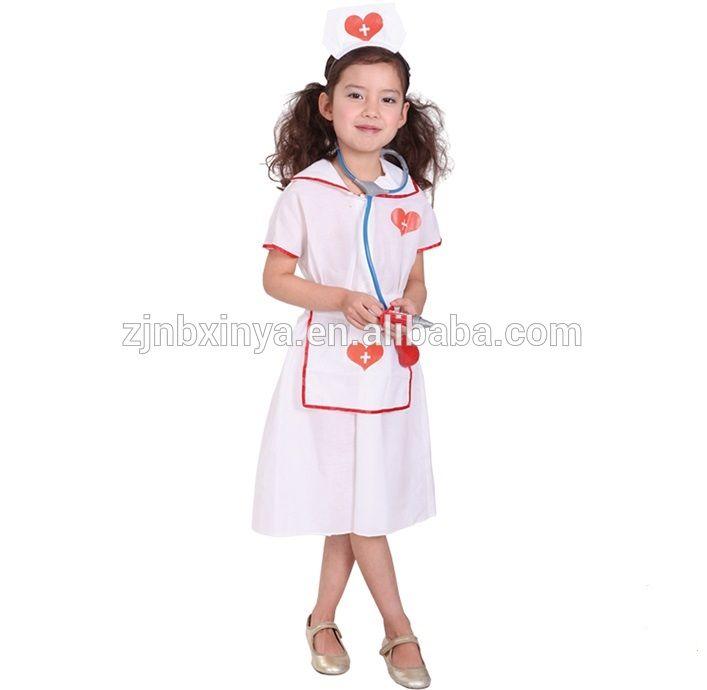 0d9eac800aa Girl Nurse Fancy Dress Childrens Kids Costume Hospital Uniform ...
