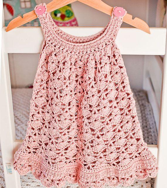 Vestido de ganchillo patrones  Vestido de encaje por monpetitviolon