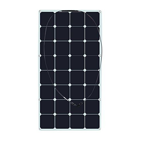 Biard 100W 12V Silver Monocrystalline Solar PV Panel - MCS Approved - Ideal For 12 or 24 Volt Battery Charger Charging - Caravan, Boat, Home, Camping or Shed