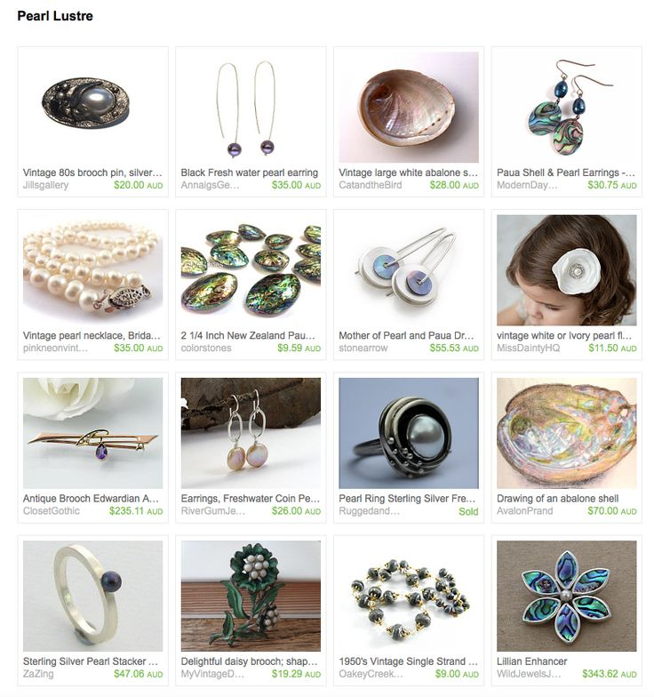 Pearl Lustre by Jenny Campbell on Etsy