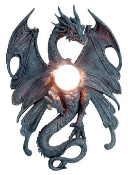 Gothic Lamp Dragon | lamps gargoyle wall lamps tables with our gargoyle lamps meval lamps ...