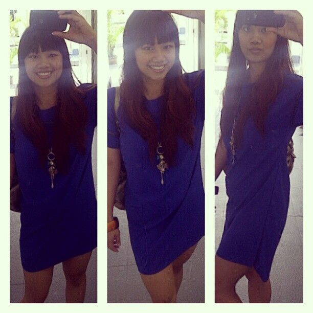 Blue fishtail dress
