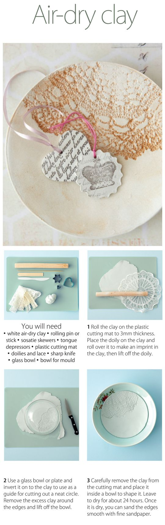 Air-dry clay: The technique