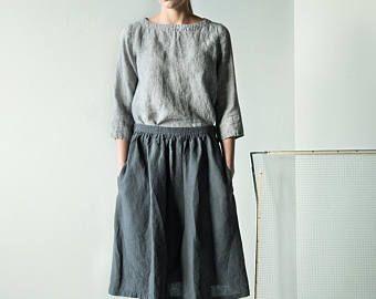 Nuovo blak capris lino con elastico in vita pantaloni di lino