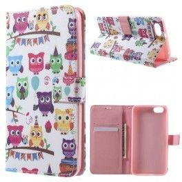 Huawei Honor 4X värikkäät pöllöt puhelinlompakko. #honor4x #huawei #phonecase #owl #pöllö