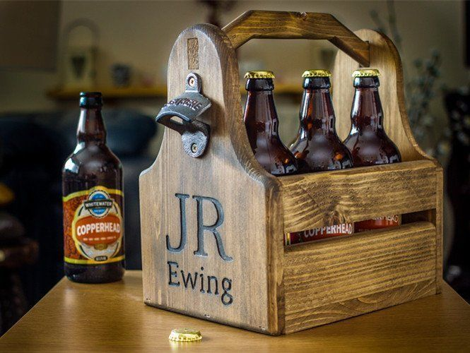 Beer Crate with Bottle Opener Personalised / Fathers Day / Best Man / Wedding  | eBay