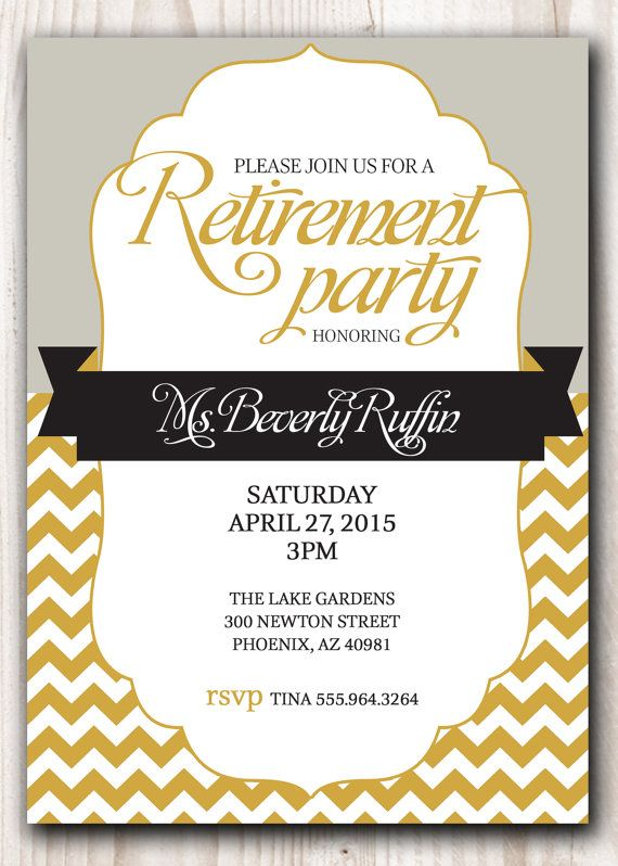 Best 25 Retirement invitations ideas – Printable Retirement Party Invitations