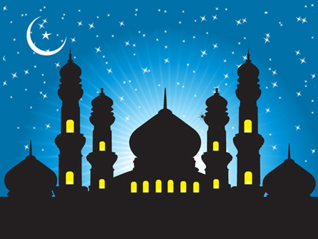 Abstract Mosque Background Vector