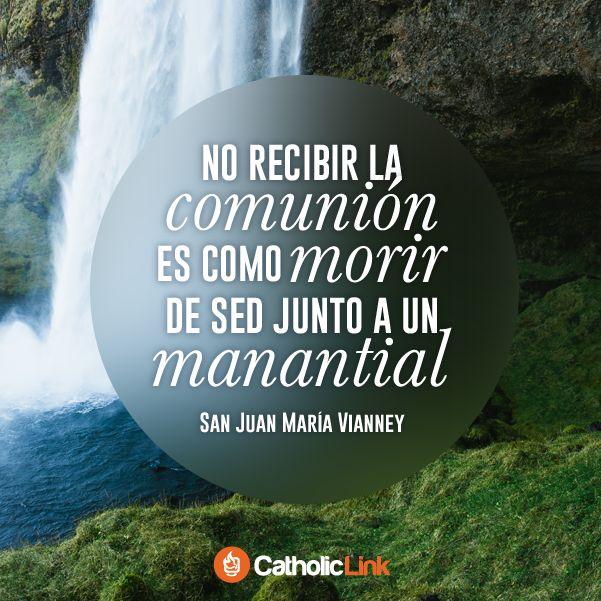 No recibir la comunión es como morir de sed junto a un manantial. San Juan María Vianney