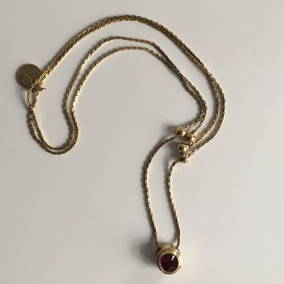 Ruby alex and Ani necklace From the birthstone collection. Never worn Alex & Ani Jewelry Necklaces