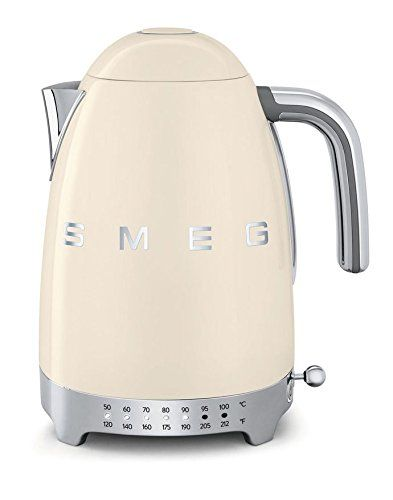Midcentury Modern Apartment Smeg KLF02CRUS 50's Retro Style Variable Temperature Kettle, Cream 2