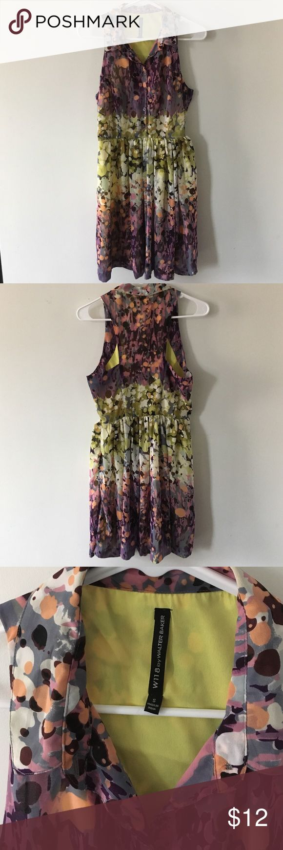 W118 by Walter Baker dress super cute back! perfect for summer weddings. only worn a few times. approx size 4 W118 by Walter Baker Dresses