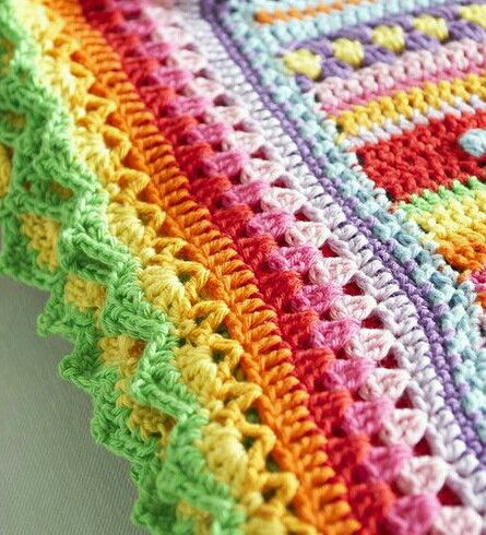 Pattern not in English. But I like the idea of eclectic stitches/colors…