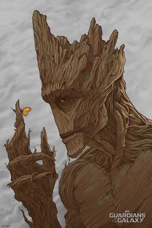 Guardioes da Galaxia Mondo Comic Con 2014 poster Groot