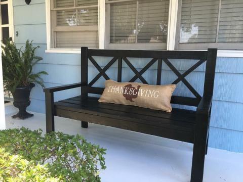 DIY Large Porch Bench