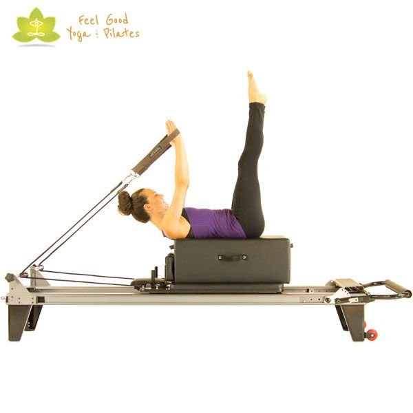 back stroke a pilates reformer exercise is taught at feel good yoga u0026 pilates in victoria bc by exceedingly qualified instructors - Pilates Reformer Machine