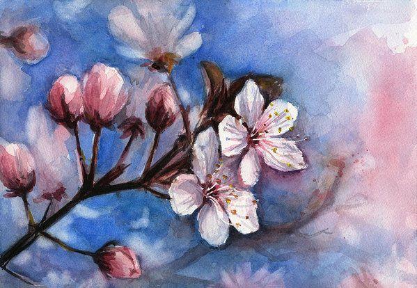 384 besten цветы Bilder auf Pinterest | Wasserfarbenblumen, Blumen ...