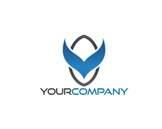 LOGO V BLUE WING Logo design - this logo for business,entertainment and media Price $125.00