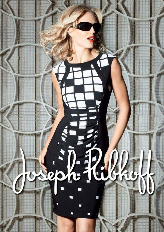 Joseph Ribkoff Dress | Spring 2014 | Black & White | #JosephRibkoff