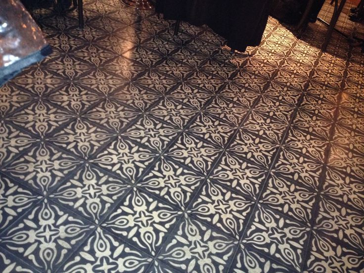 Gorgeous floor in Cote Brasserie, Barbican