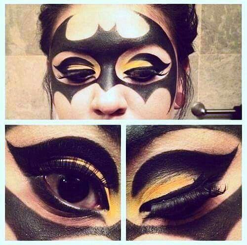 Bat girl make up