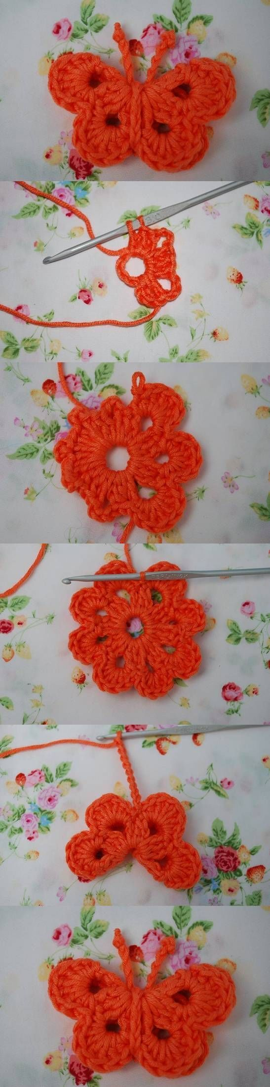 DIY Crochet Butterfly Pictures, Photos, and Images for Facebook, Tumblr, Pinterest, and Twitter