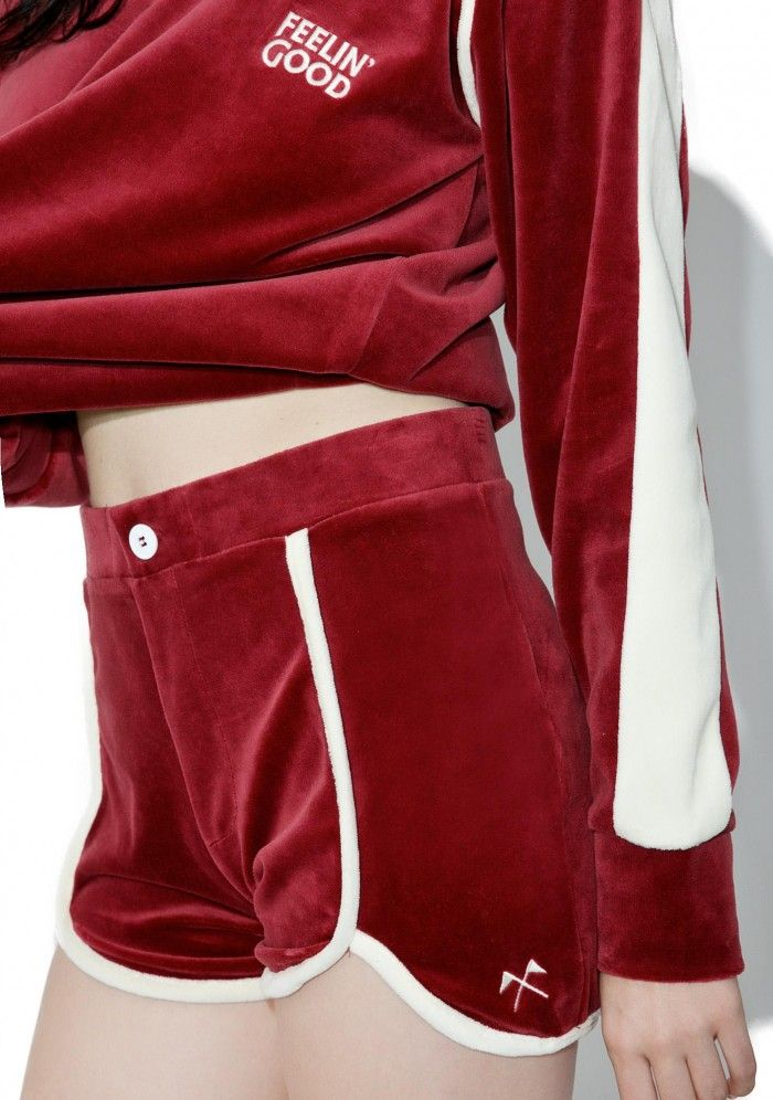 Camp Collection Phys Ed Velour Shorts