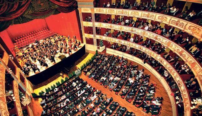 Interior del Teatre Principal de Palma. Quina bella estampa