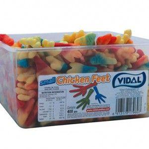 A 2kg tub of Vidal Chicken Feet Lollies.