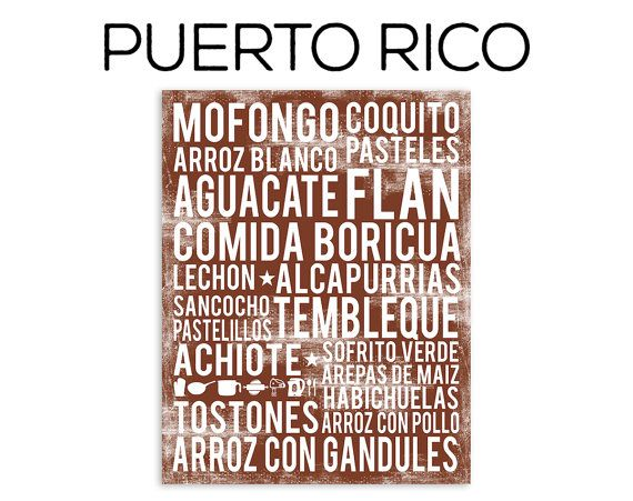 Puerto Rico Food Poster