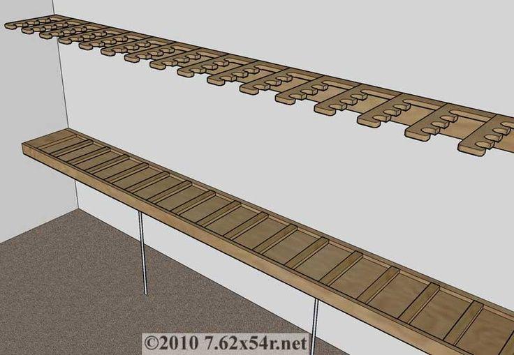 Closet storage for purses Closet gun rack plans