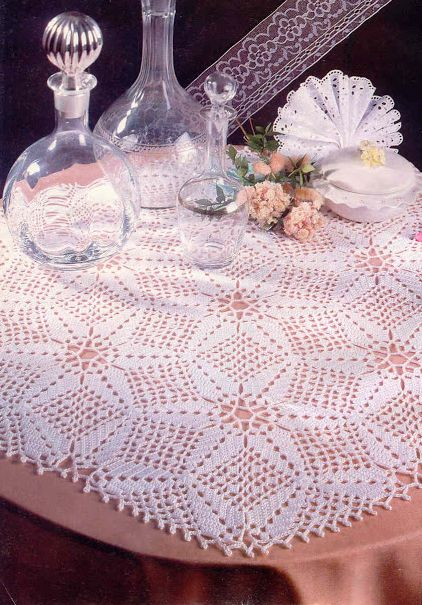Crochet star flowers centerpiece free pattern and