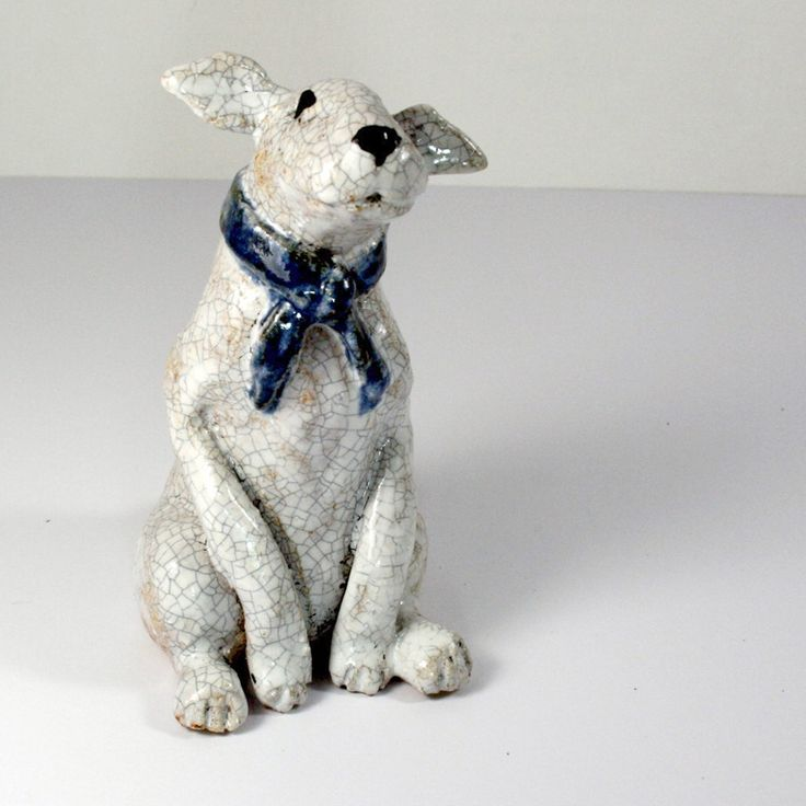 This is such a cute #dog. WOW! think its a English Bull Terrier? We have one with a patch on its eye as they seem to. SItting in classic #bullterrier mode. A fun one-off piece made by Jane for just £49