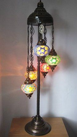 Stunning Mosaic Glass And Brass Hand Made Turkish / Moroccan Floor Lamp /  Light: Amazon