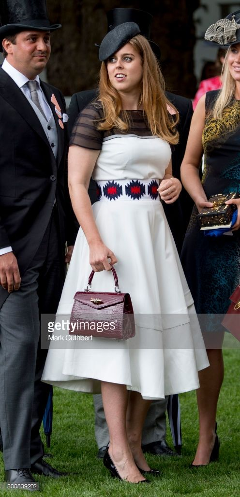 Princess Beatrice attends Royal Ascot 2017 at Ascot Racecourse on June 24, 2017 in Ascot, England.  (Photo by Mark Cuthbert/UK Press via Getty Images)