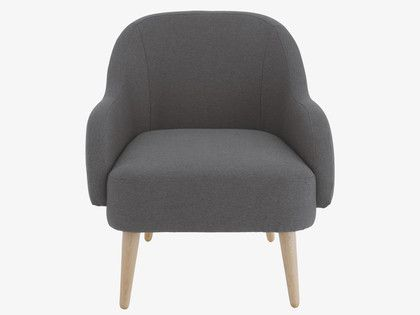 MOMO Charcoal fabric armchair Habitat £250 - 2 week delivery