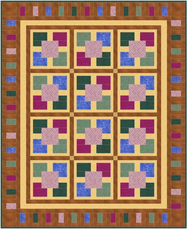 155 best SQUARE IN A SQUARE QUILTS images on Pinterest | Tutorials ... : patch it to me quilt - Adamdwight.com