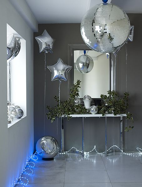 Disco ball, ballons and LED lights // Chris Everard  Sarah Kaye Representation