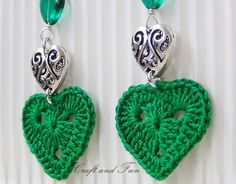 DIY earrings crochet