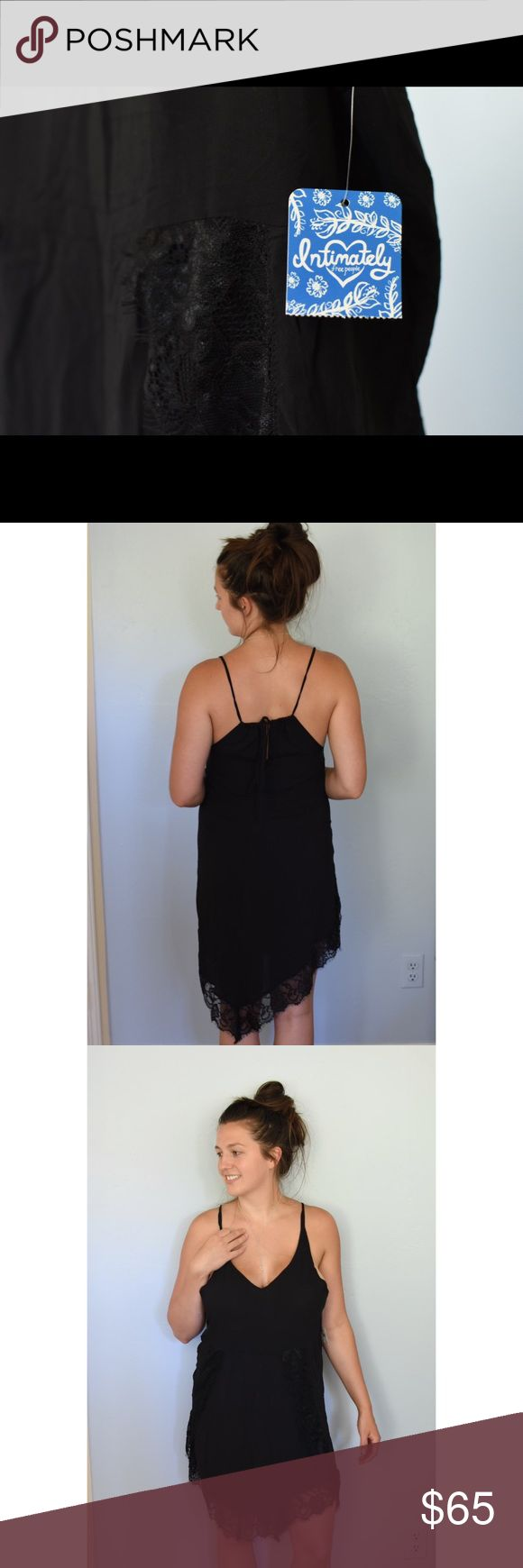 F R E E P E O P L E | s l i p Free people Kendall trapeze lace slip, silk to touch dress that can be worn for an intimate night in or for a day out on the town as well as a romantic night out. Super versatile dress with drawstrings at the back of neck to raise or lower the dress at your comfort. XS (0-2) and M (8-10 Free People Intimates & Sleepwear Chemises & Slips