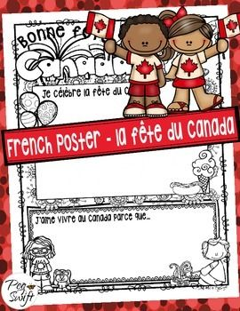 French poster for Canada Day ~ La fête du Canada! How will you celebrate Canada Day?