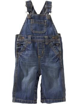 Denim Overalls for Baby | Old Navy ♥ love to get some overalls and dress them up for baby, maybe a nice monogram?